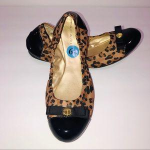 Tahari Leopard Print Gibson Ballet Flat
